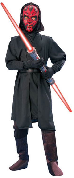 star wars deluxe kinder kost m darth maul 8 bis 10 j halloween karneval ebay. Black Bedroom Furniture Sets. Home Design Ideas
