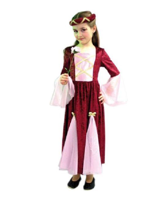 karneval kinder kost m burgfr ulein rosa m dchen kleid ebay. Black Bedroom Furniture Sets. Home Design Ideas