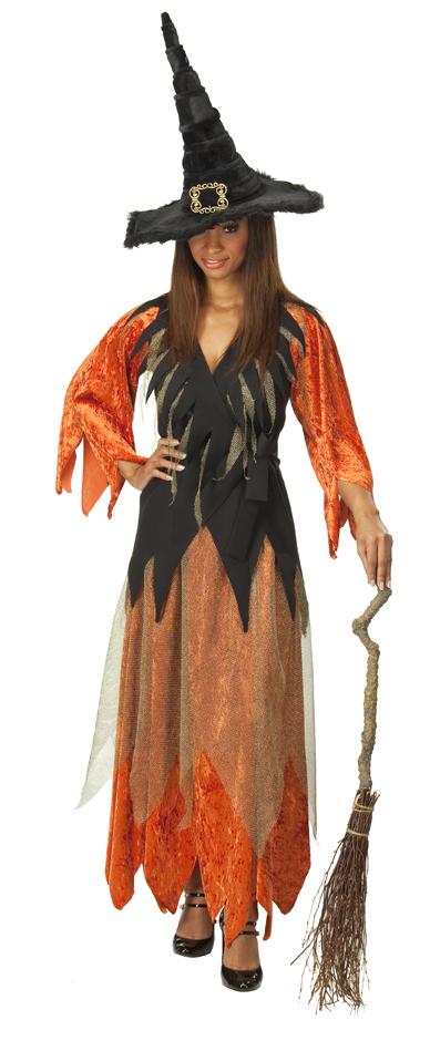 damen kost m hexe zigeunerin hexenkleid witch ebay. Black Bedroom Furniture Sets. Home Design Ideas