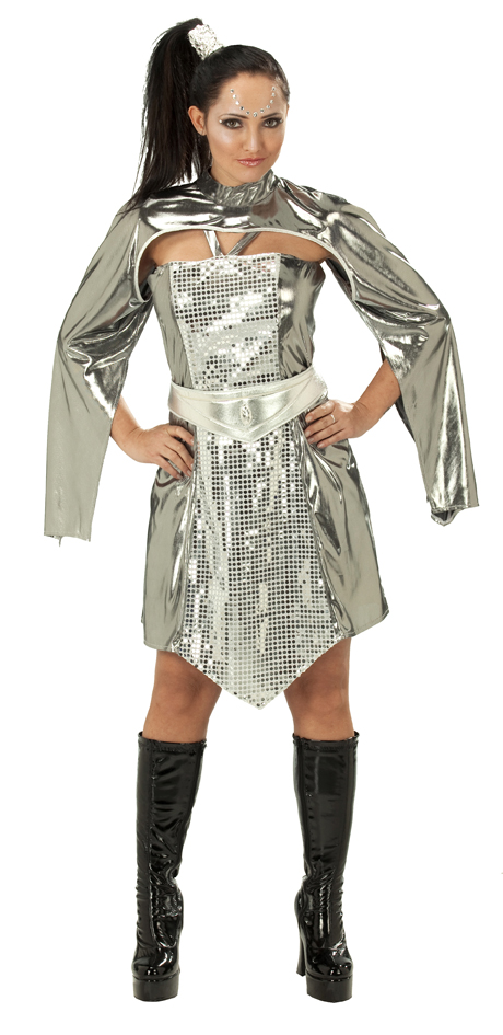 Damen science fiction kost m space girl glitzer ebay for Glitzer bilder selber machen