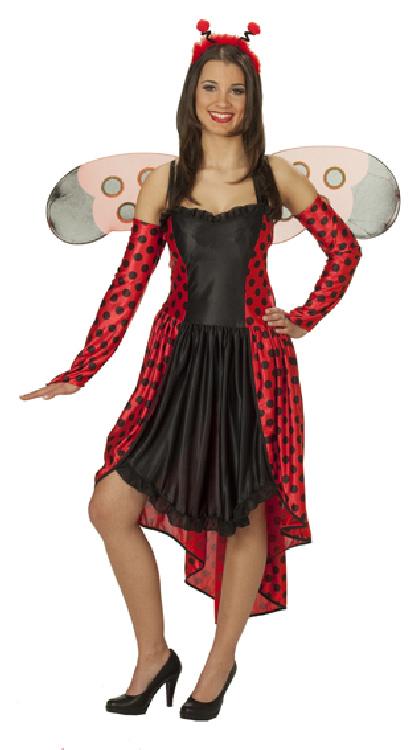 karneval damen kost m gl cksk fer marienk fer an fasching ebay. Black Bedroom Furniture Sets. Home Design Ideas