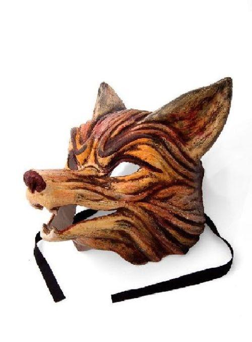 details zu tiermaske fuchs maske tier fasching karneval. Black Bedroom Furniture Sets. Home Design Ideas