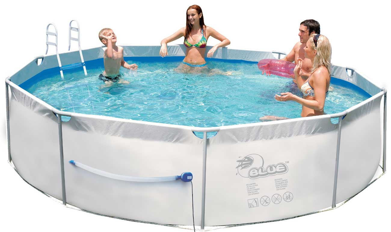 swimmingpool steel pro frame pool 360 x 80 cm mit pumpe ebay. Black Bedroom Furniture Sets. Home Design Ideas