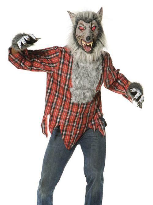 halloween grusel kost m werwolf mit horror maske ebay. Black Bedroom Furniture Sets. Home Design Ideas