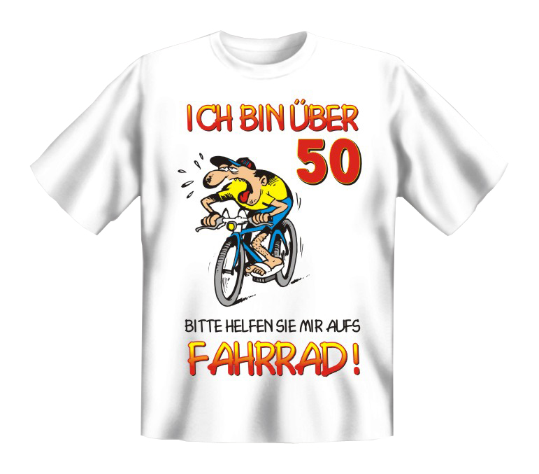 druck t shirt geschenk 50 geburtstag party fahrrad ebay. Black Bedroom Furniture Sets. Home Design Ideas