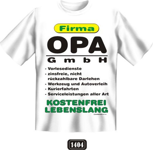 druck t shirt mit spruch geschenk geburtstag firma opa. Black Bedroom Furniture Sets. Home Design Ideas