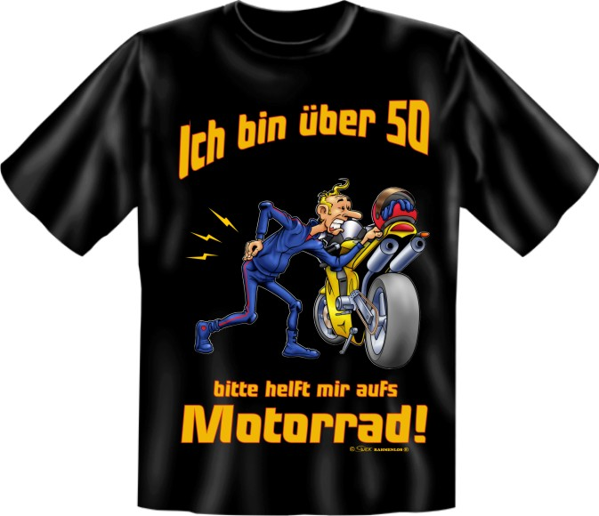 druck t shirt geschenk 50 geburtstag party motorrad ebay. Black Bedroom Furniture Sets. Home Design Ideas