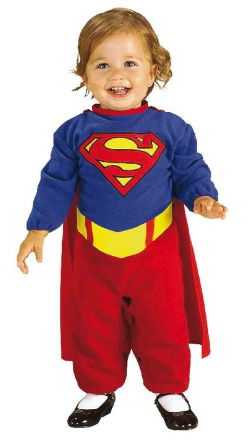 superman baby strampler karneval kost m 6 12 monate ebay. Black Bedroom Furniture Sets. Home Design Ideas