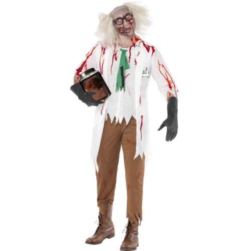 halloween herren kost m zombie professor blutig horror ebay. Black Bedroom Furniture Sets. Home Design Ideas