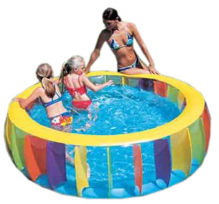 gro es buntes planschbecken kinder pool swimmingpool ebay. Black Bedroom Furniture Sets. Home Design Ideas