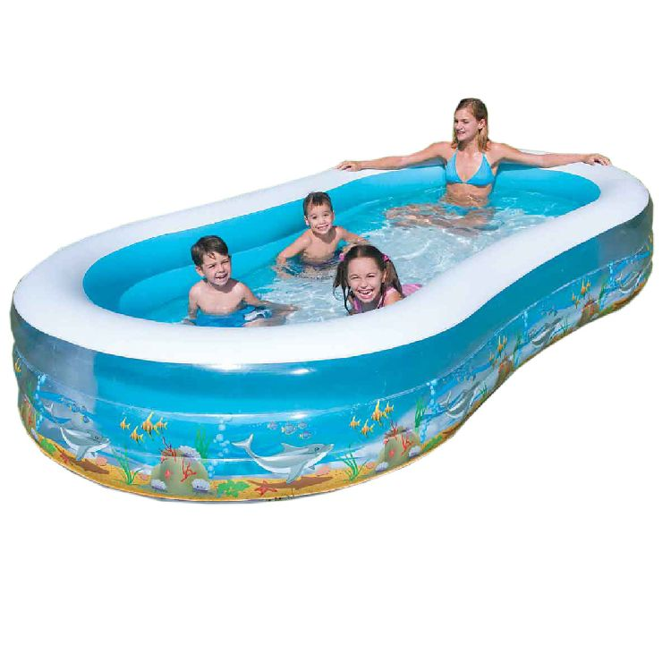 familen planschbecken sea life kinder pool 351x183x56cm ebay. Black Bedroom Furniture Sets. Home Design Ideas