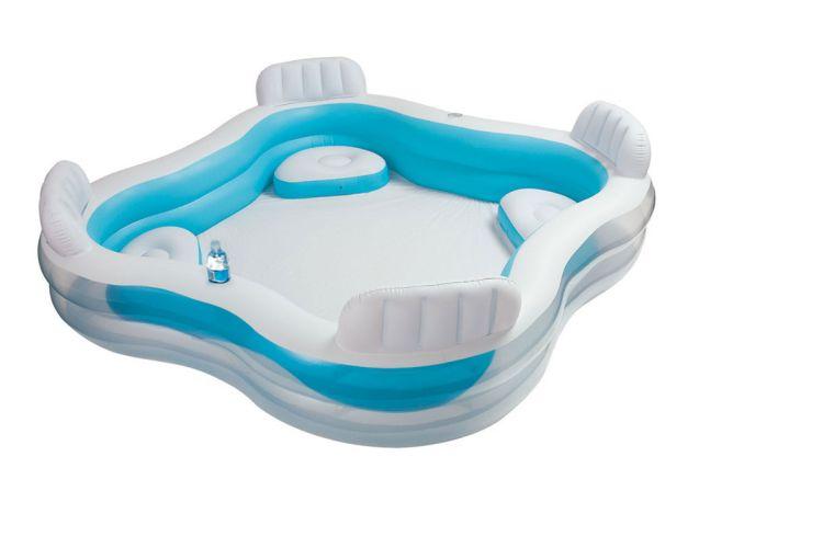 Lounge pool planschbecken aufblasbare sitze 229x229 cm for Aufblasbare pools im angebot