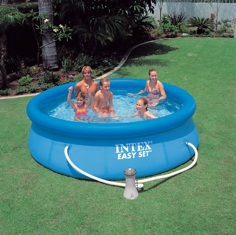Intex easy set quick up pool planschbecken 305 x 76 cm ebay for Obi quick up pool