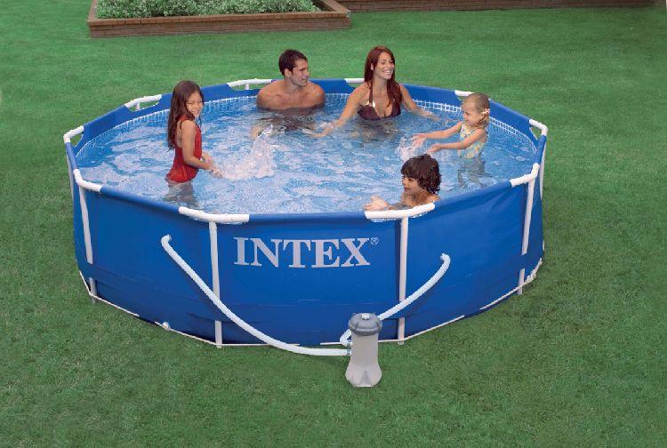 Intex metal steel frame stahlrahmen pool 305 x 76 cm ebay for Stahlrahmen pool rund