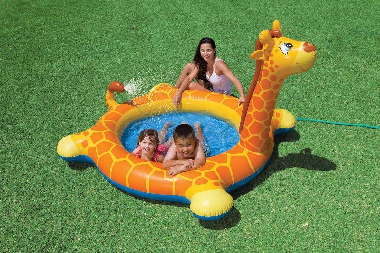kinder spa pool planschbecken giraffe mit spritzdusche ebay. Black Bedroom Furniture Sets. Home Design Ideas