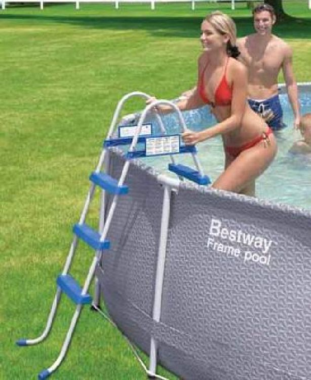 Poolleiter quick up fast set frame pool leiter bis 76cm ebay for Quick up pool obi