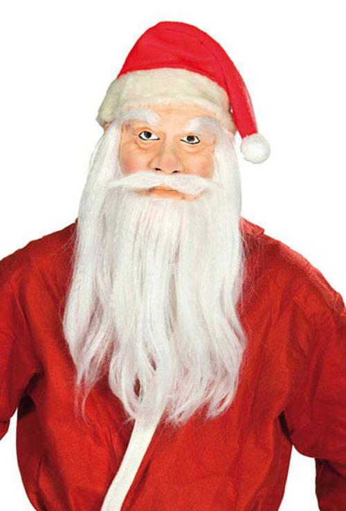 maske nikolaus weihnachtsmann bart m tze verkleidung. Black Bedroom Furniture Sets. Home Design Ideas
