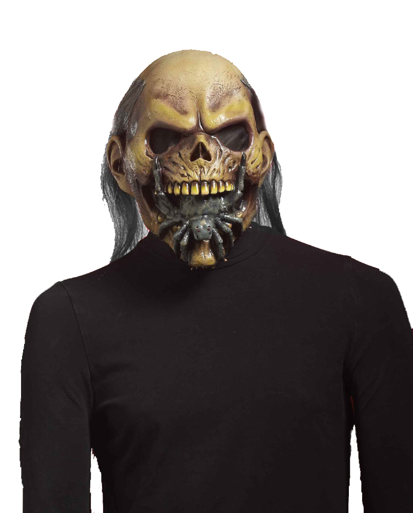 halloween horror maske zombie totenkopf spinne im mund karneval kost m zubeh r ebay. Black Bedroom Furniture Sets. Home Design Ideas