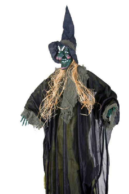 Halloween horror party deko figur gr ne hexe 95cm karneval for Karneval dekoration