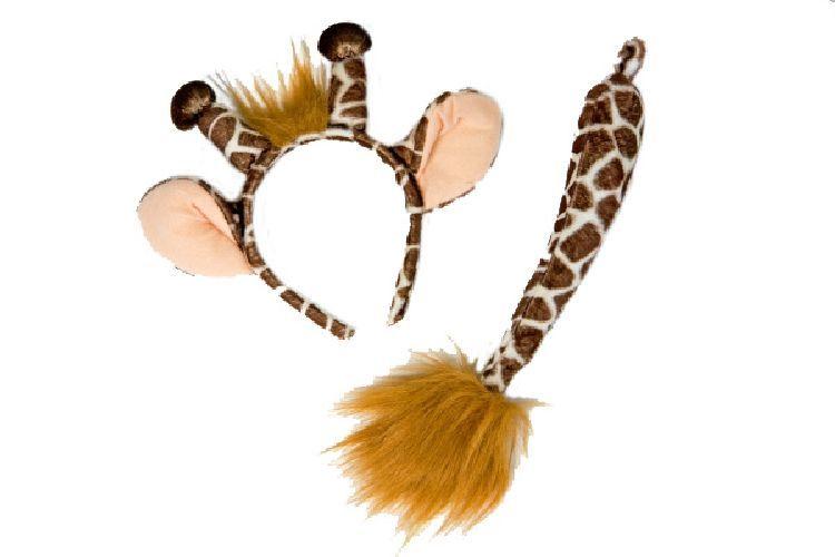 fm karneval kost m zubeh r giraffe ohren schwanz. Black Bedroom Furniture Sets. Home Design Ideas