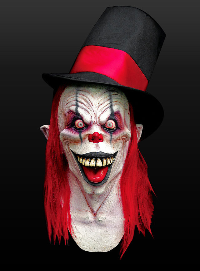 maske party clown clownmaske zombie horrorclown halloween. Black Bedroom Furniture Sets. Home Design Ideas