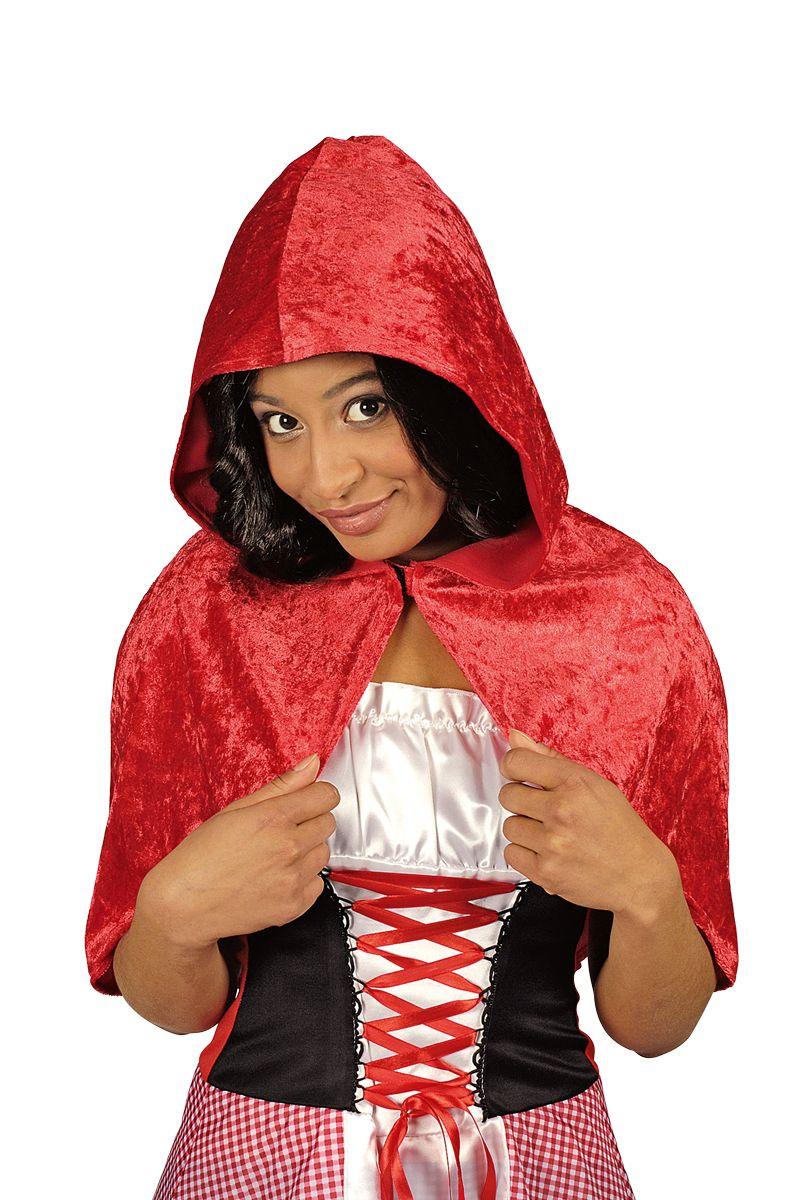 k r kost m zubeh r rotk ppchen cape rot kapuze karneval fasching ebay. Black Bedroom Furniture Sets. Home Design Ideas