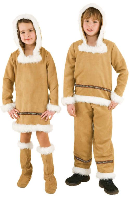 orl eskimo junge kinder kost m als inuit zu karneval fasching ebay. Black Bedroom Furniture Sets. Home Design Ideas