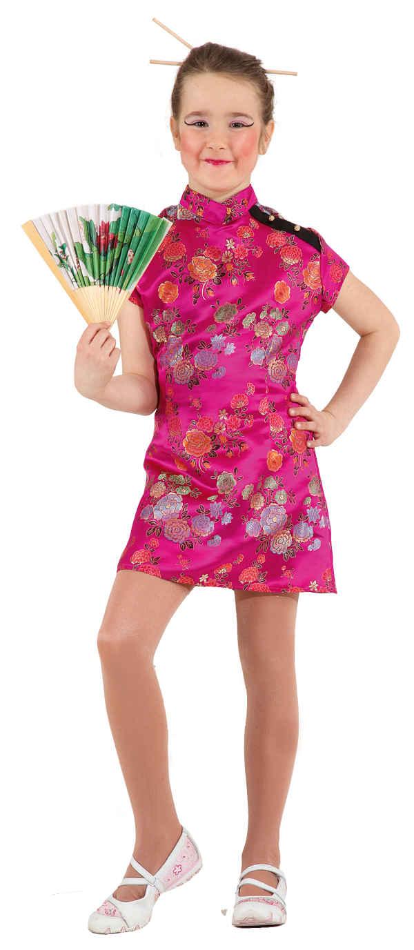 Chinesin Kinder Kostüm als Asiatin verkleiden zu Karneval Fasching ...