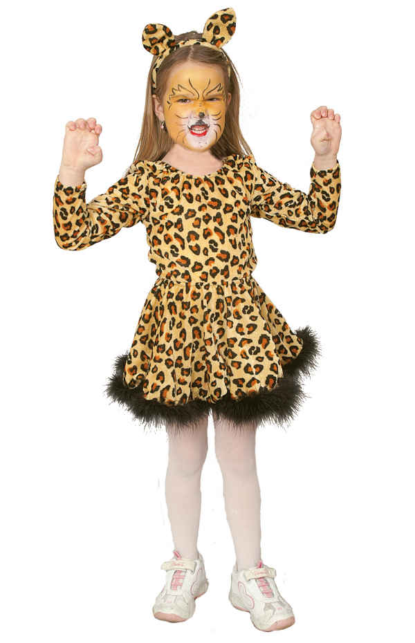 leoparden girl kinder kost m als katze verkleiden zu karneval fasching ebay. Black Bedroom Furniture Sets. Home Design Ideas