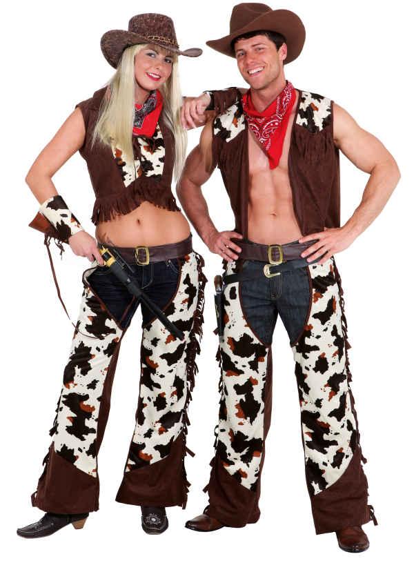 orl chaps und weste in braun herren kost m cowboy zu karneval ebay. Black Bedroom Furniture Sets. Home Design Ideas