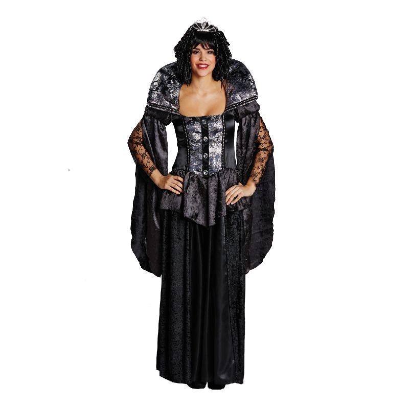 rub dunkle k nigin damen kost m vampirin zu halloween ebay. Black Bedroom Furniture Sets. Home Design Ideas