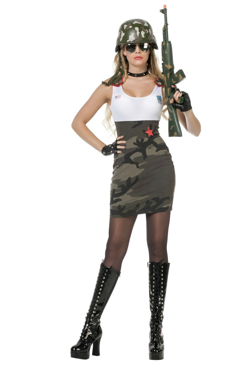 wil camouflage damen kost m army soldatin karneval. Black Bedroom Furniture Sets. Home Design Ideas