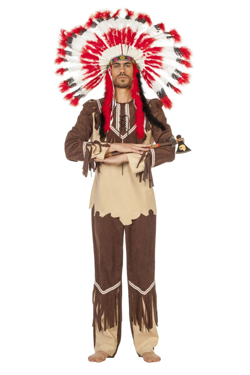 wil herren kost m cherokee indianer karneval fasching ebay. Black Bedroom Furniture Sets. Home Design Ideas