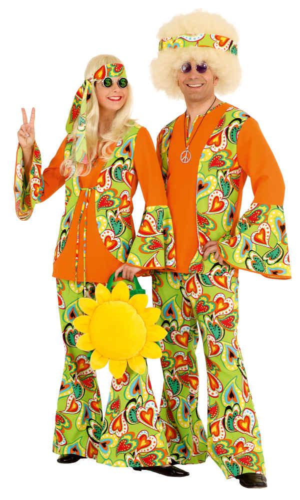 Hippie Mann Herren Kostum Als Blumenkind Zu Karneval Fasching Ebay