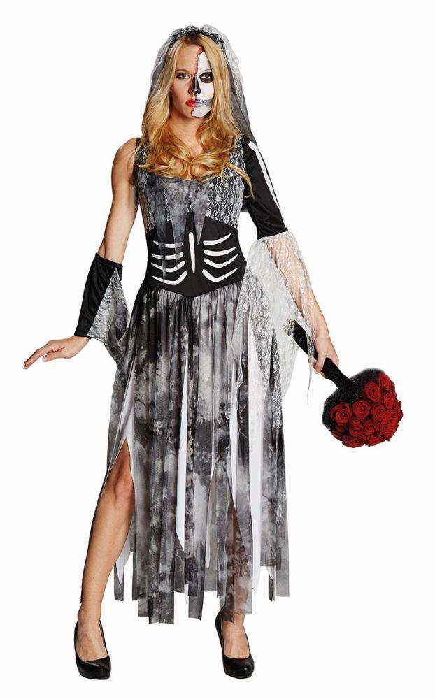 Damen Kostüm Zombie Hexe Karneval Fasching Halloween Rub